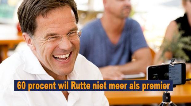 60 procent wil Rutte niet meer als premier