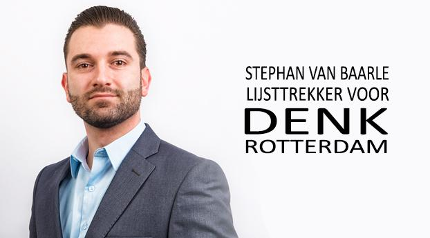 Stephan van Baarle is lijsttrekker voor DENK Rotterdam