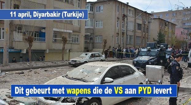 Dit gebeurt er met wapens die de VS aan PYD in Syrië leve...