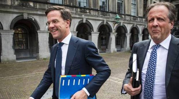 Overleg Rutte en Pechtold in Scheveningen