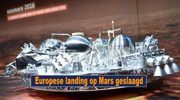 Europese landing op Mars geslaagd