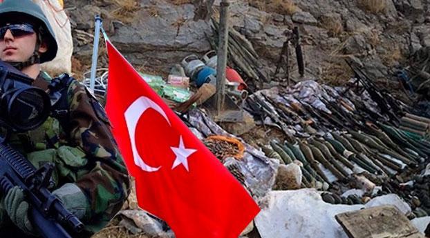 Turkije vindt arsenaal aan wapens van de PKK