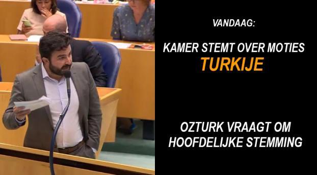 Tweede Kamer stemt over 10 moties over Turkije