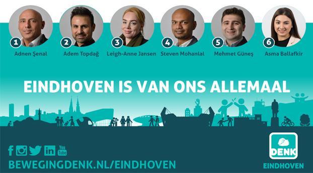 DENK gaat voor 6 zetels in Eindhoven