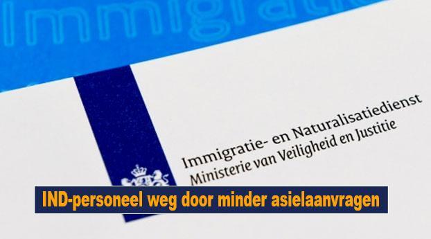 IND-personeel weg door minder asielaanvragen