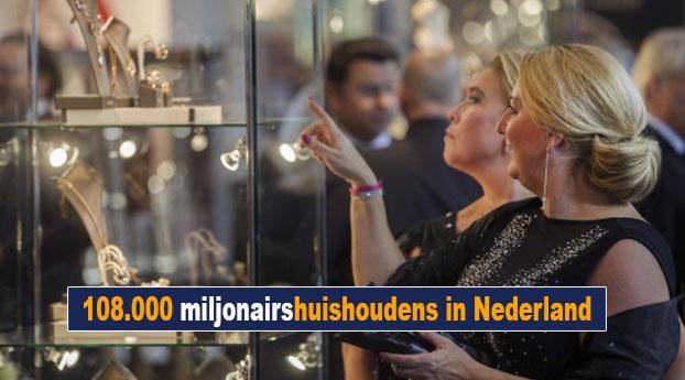 108.000 miljonairshuishoudens in Nederland