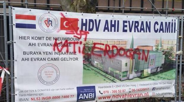 Haagse Moskee beklad door aanhangers PKK/PYD