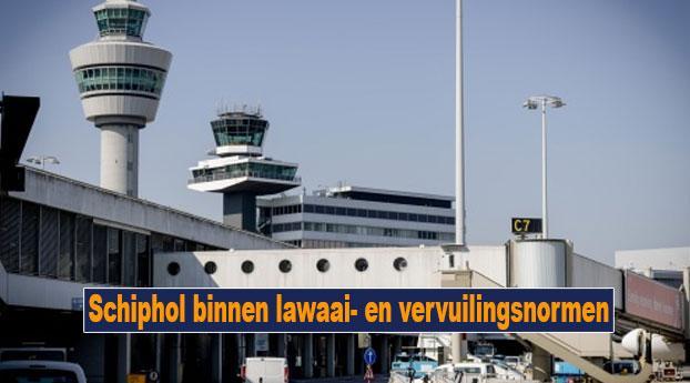 Schiphol binnen lawaai- en vervuilingsnormen