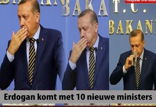 Erdogan Vervangt Tien Ministers