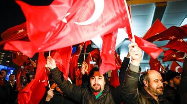 Turkse demonstratie tegen politiegeweld