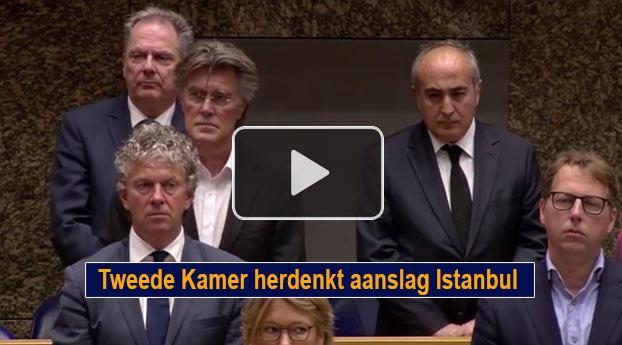 Tweede Kamer herdenkt aanslag Istanbul