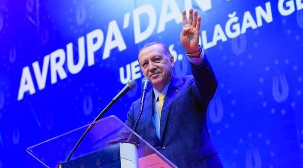 Erdogan vraagt Europese Turken steun