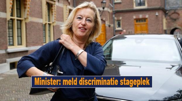 Minister: meld discriminatie stageplek