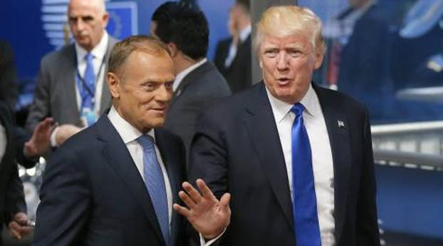 Trump laat EU-gastheren kwartier wachten