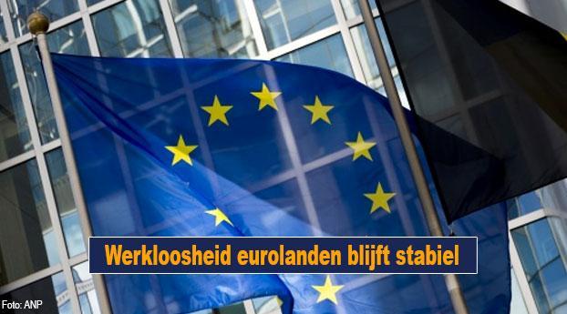 Werkloosheid eurolanden blijft stabiel