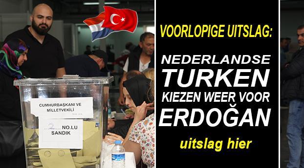 Voorlopige uitslag: Nederlandse Turken kiezen weer voor Erdogan