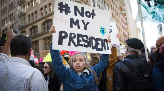 Nederlandse protesten na aantreden Trump