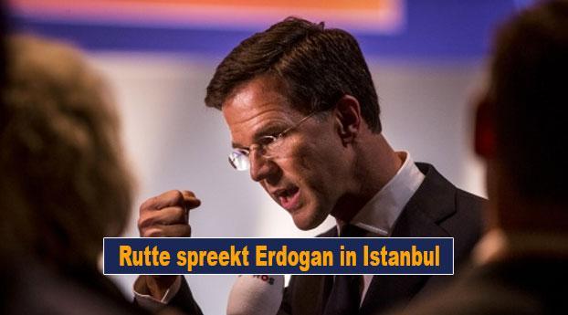 Rutte spreekt Erdogan in Istanbul