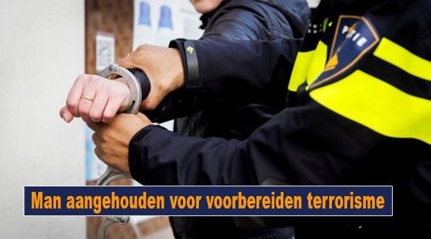 Man aangehouden voor voorbereiden terrorisme