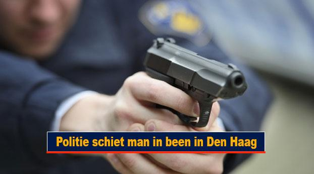 Politie schiet man in been in Den Haag