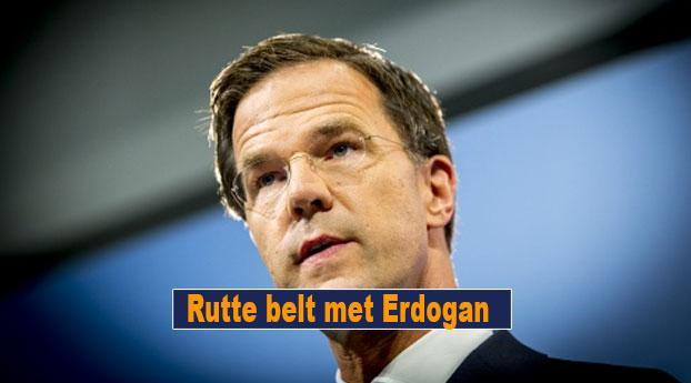 Rutte belt met Erdogan