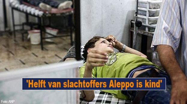 'Helft van slachtoffers Aleppo is kind'