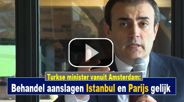Turkse minister: Behandel aanslagen Istanbul en Parijs zelfde