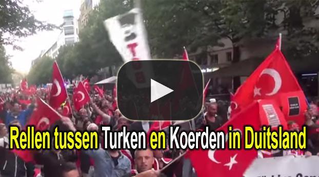 Rellen tussen Turken en Koerden in Duitsland