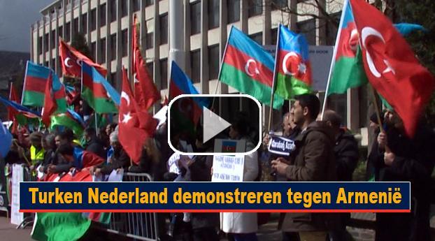 Turken Nederland demonstreren tegen Armenië
