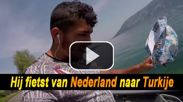 Turkse Nederlander fietst van Nederland naar Turkije