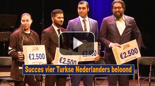 Succes vier Turkse Nederlanders beloond