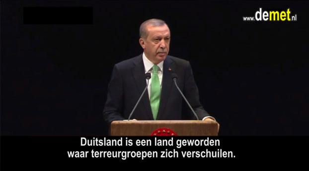 Erdogan haalt fel uit naar Duitsland: u steunt terreurgroepen