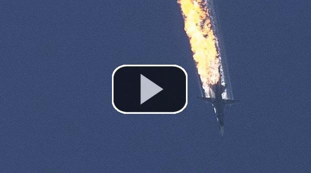 VIDEO: Turkije schiet Russisch gevechtsvliegtuig neer