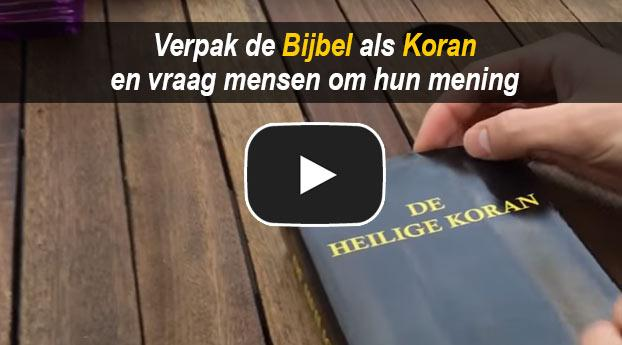 Verpak de Bijbel als Koran en vraag mensen om hun mening