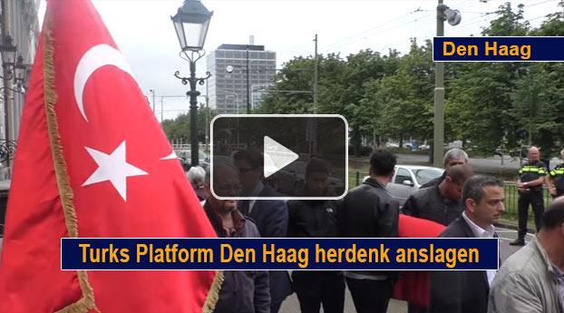 Turks Platform Den Haag herdenk aanslagen