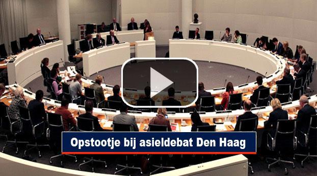 Opstootje bij asieldebat Den Haag