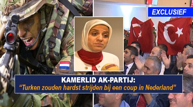 Turken zouden hardst strijden bij een coup in Nederland