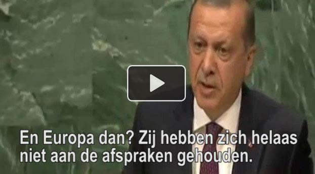 Erdogan: Europa houdt zich helaas niet aan de afspraken