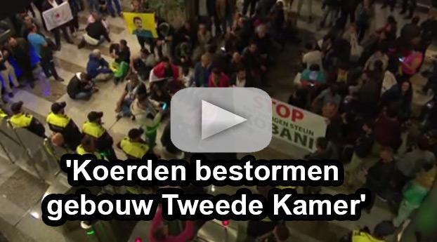 Eerste beelden betoging Koerden bij Tweede Kamer