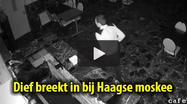 Dief breekt in bij moskee Den Haag