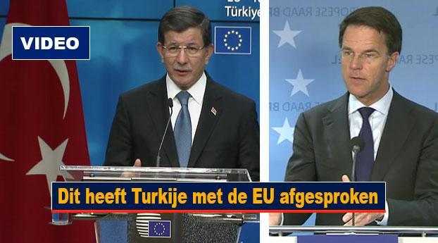 Dit heeft Turkije met de EU afgesproken