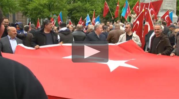 Turks protest tegen Armeens monument