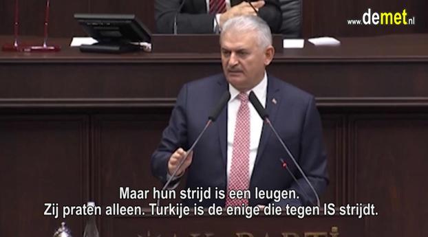 Premier Turkije: Turkije enige land die vecht tegen IS. De rest praat allen. (video)
