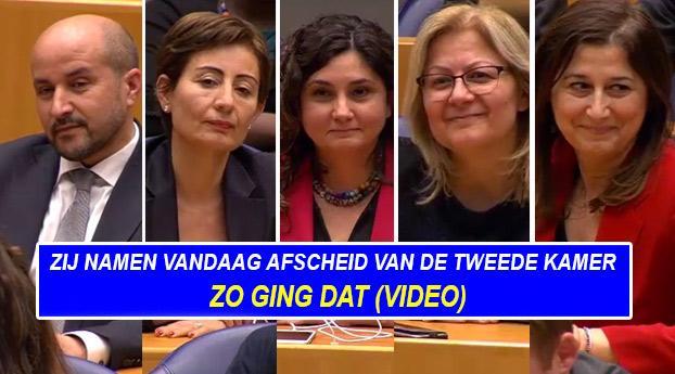 Zij namen vandaag afscheid van de Tweede Kamer (video)