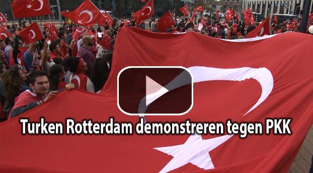 Turken Rotterdam demonstreren tegen PKK