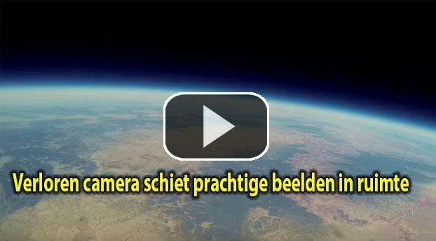 Verloren camera schiet prachtige beelden in ruimte
