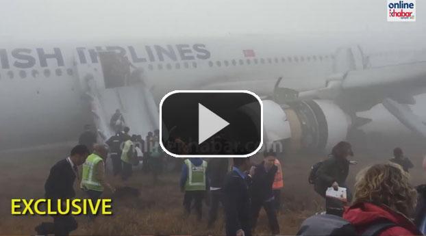 Ongeluk bij landen Turkish Airlines in Nepal