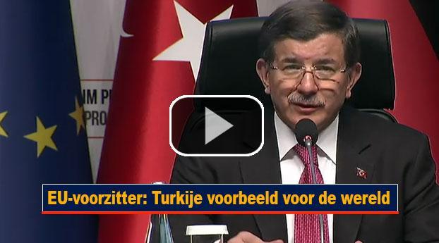 EU-voorzitter: Turkije voorbeeld voor de wereld