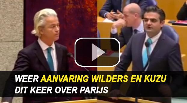 Weer aanvaring tussen Kuzu en Wilders, nu over Parijs