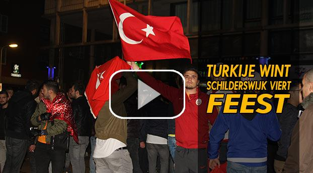 Turkije wint, Schilderswijk viert feest